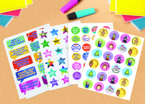 Free Christmas giveaway of Avery's Sticky Stuff for Schools range