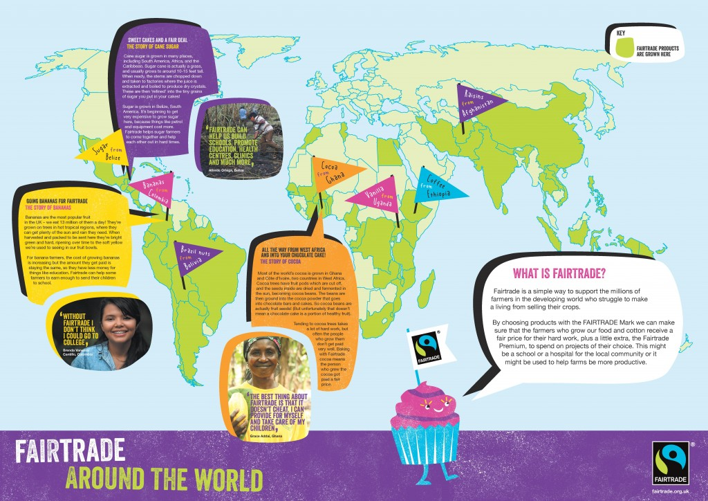 Fairtrade Bakesale Party product map
