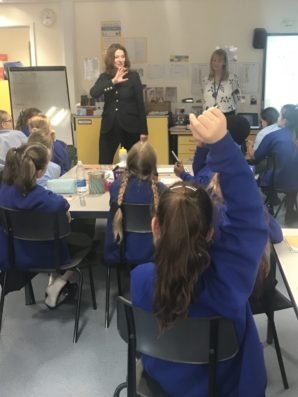 MP goes back to school to inspire pupils to aim high