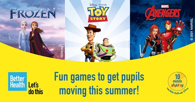 Keep pupils active this summer with Public Health England and Disney's 10 Minute Shake Ups
