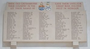 Gresham's raises £8,000 for new WWI memorial to feature names of 15 students and staff discovered during four year centenary project