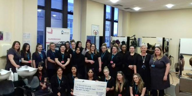 Kirklees College raises vital funds for Kirkwood Hospice
