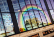 Sandwell College shows support for local NHS staff, key workers and former students with giant rainbow tribute